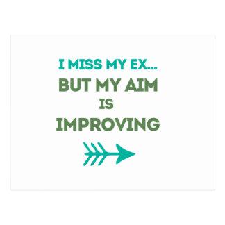 I miss my ex postcard