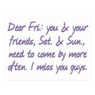 I miss my friends Standard Postcard