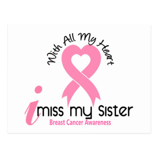 I Miss My Sister Breast Cancer Postcard