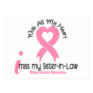 I Miss My Sister-In-Law Breast Cancer Postcard