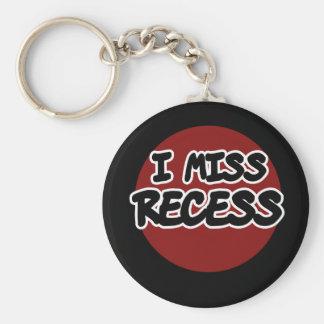 I Miss Recess Key Chains