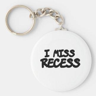 I Miss Recess Key Chain