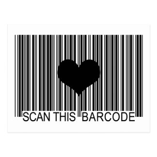 I MISS YOU BARCODE POST CARDS