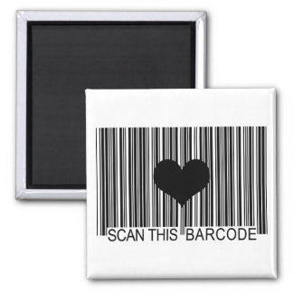 I MISS YOU BARCODE SQUARE MAGNET