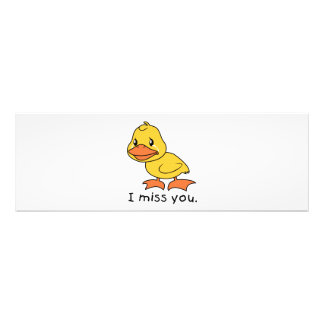 I Miss You Crying Yellow Duckling Duck Mug Hat Photo Print