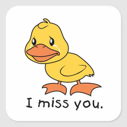 I Miss You Crying Yellow Duckling Duck Mug