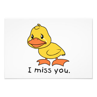 I Miss You Crying Yellow Duckling Duck Mug Wrapper Photo