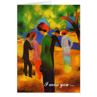 I miss you. Fine Art Valentine's Day Cards