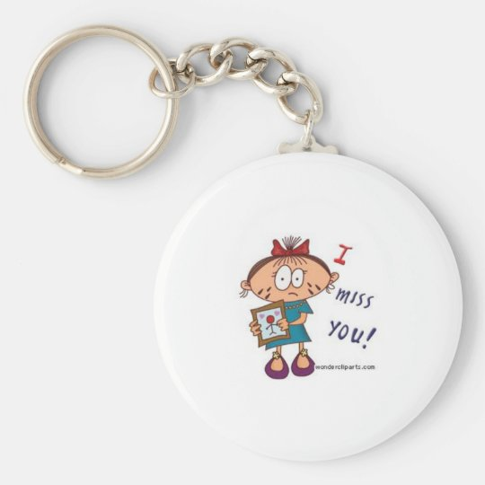 i miss you keychain