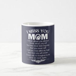 I MISS YOU, MOM COFFEE MUG