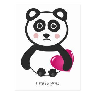 I miss you postcards