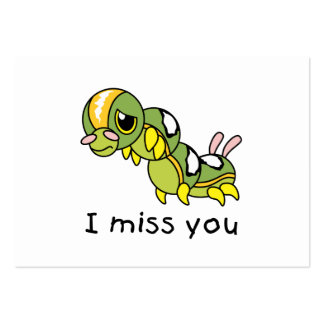 I Miss You Sad Lonely Crying Weeping Caterpillar Pack Of Chubby Business Cards