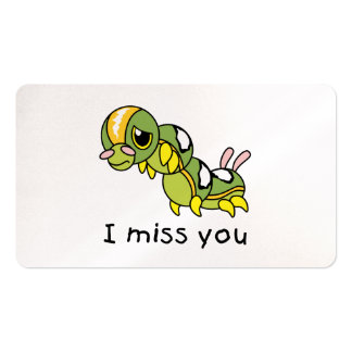 I Miss You Sad Lonely Crying Weeping Caterpillar Pack Of Standard Business Cards