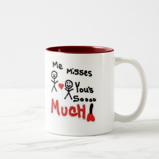 I Miss You So Much Cartoon Mug