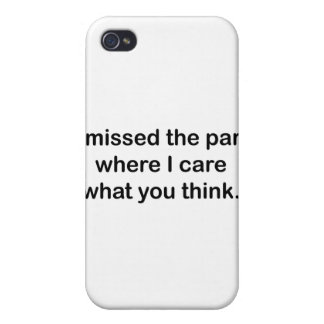 I Missed The Part Cases For iPhone 4