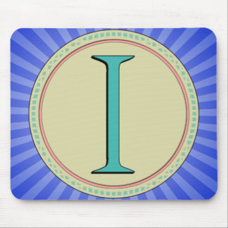 I MONOGRAM LETTER MOUSE PAD