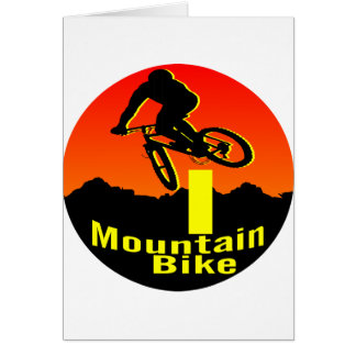 I Mountain Bike Greeting Cards