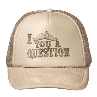 I Moustache a Question Mesh Hat