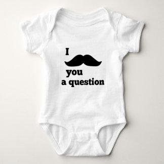 I Moustache You A Question Baby Bodysuit