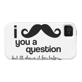 I Moustache You a Question - Case-Mate Case-Mate iPhone 4 Case