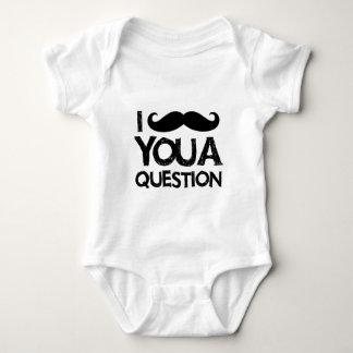 I moustache you a question (distressed design) baby bodysuit