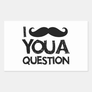 I moustache you a question (distressed design) rectangular sticker