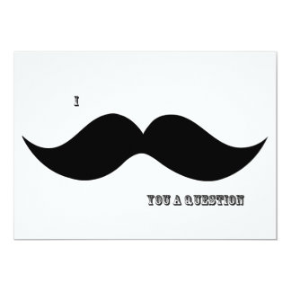 I Moustache You A Question - Invitation