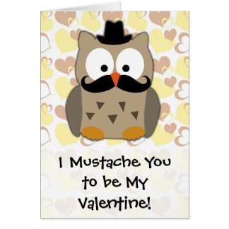 I Moustache You to be My Valentine Note Card
