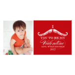 I Moustache You To Be My Valentine Customised Photo Card