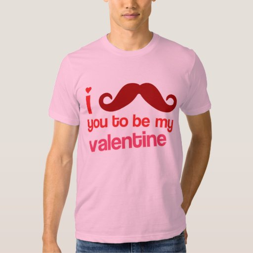 i moustache you to be my valentine tee shirts