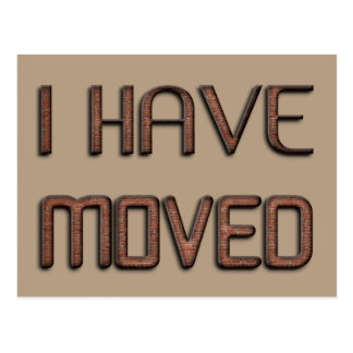 I Moved New Address Funny Stone Bricks Typography Postcard