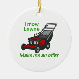 I MOW LAWNS CHRISTMAS ORNAMENT