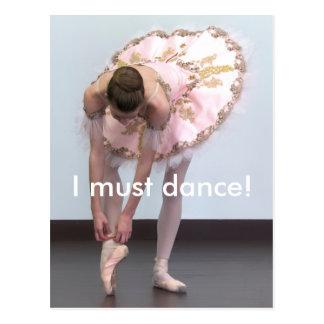 I  must dance! postcard