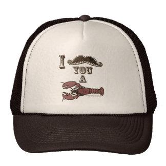 I mustache you a crustacean mesh hats