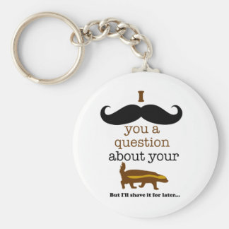 i mustache you a question about your honey badger key ring