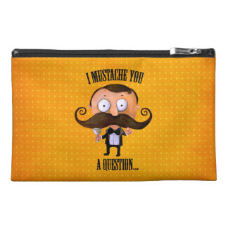 I Mustache You A Question... Travel Accessory Bag