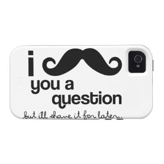 I Mustache You a Question - Case-Mate Vibe iPhone 4 Cases