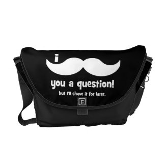 I mustache you a question courier bags