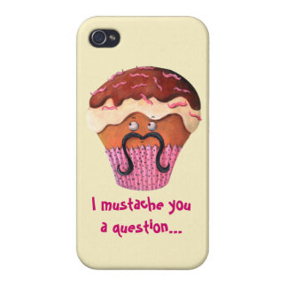 I Mustache you a question Cupcake iPhone 4 Case