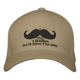 i mustache you a question embroidered cap