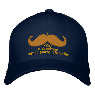 i mustache you a question embroidered hats