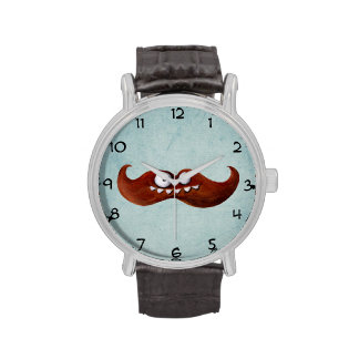 I Mustache You A Question... Wrist Watches