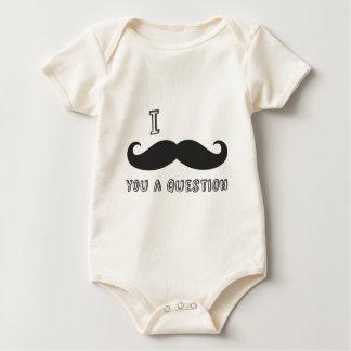 I mustache you a question, I Love Mustache shop Baby Bodysuit