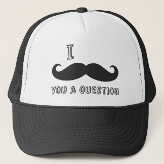 I mustache you a question, I Love Mustache shop Trucker Hat