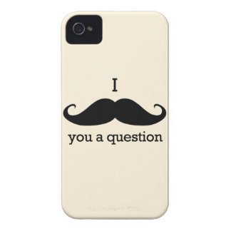 I Mustache You a Question iPhone 4 Case-Mate Case