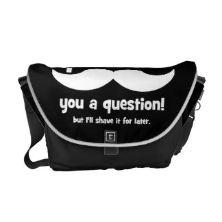 I mustache you a question messenger bag
