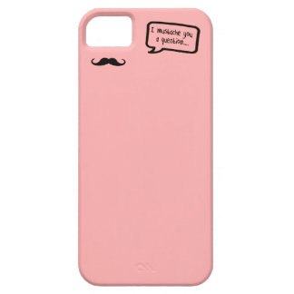 i mustache you a question mini pink case for the iPhone 5