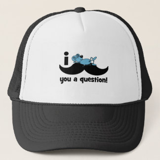I mustache you a question mouse trucker hat