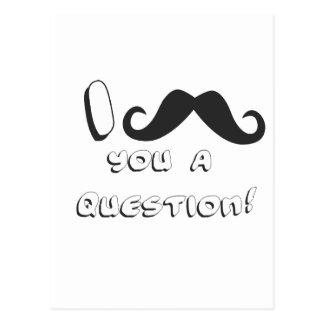 I mustache you a question! postcard
