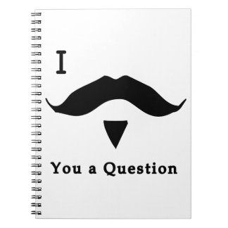 I Mustache You a Question Spiral Notebook